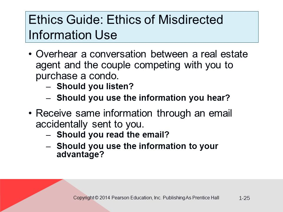 Ethics Guide: Ethics of Misdirected Information Use