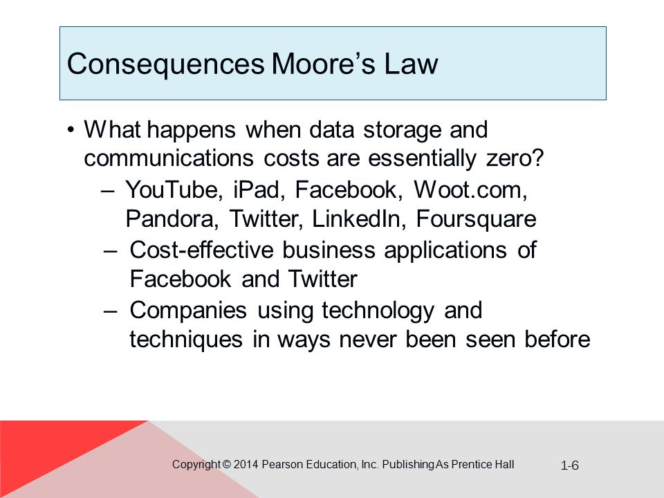 Consequences Moore's Law