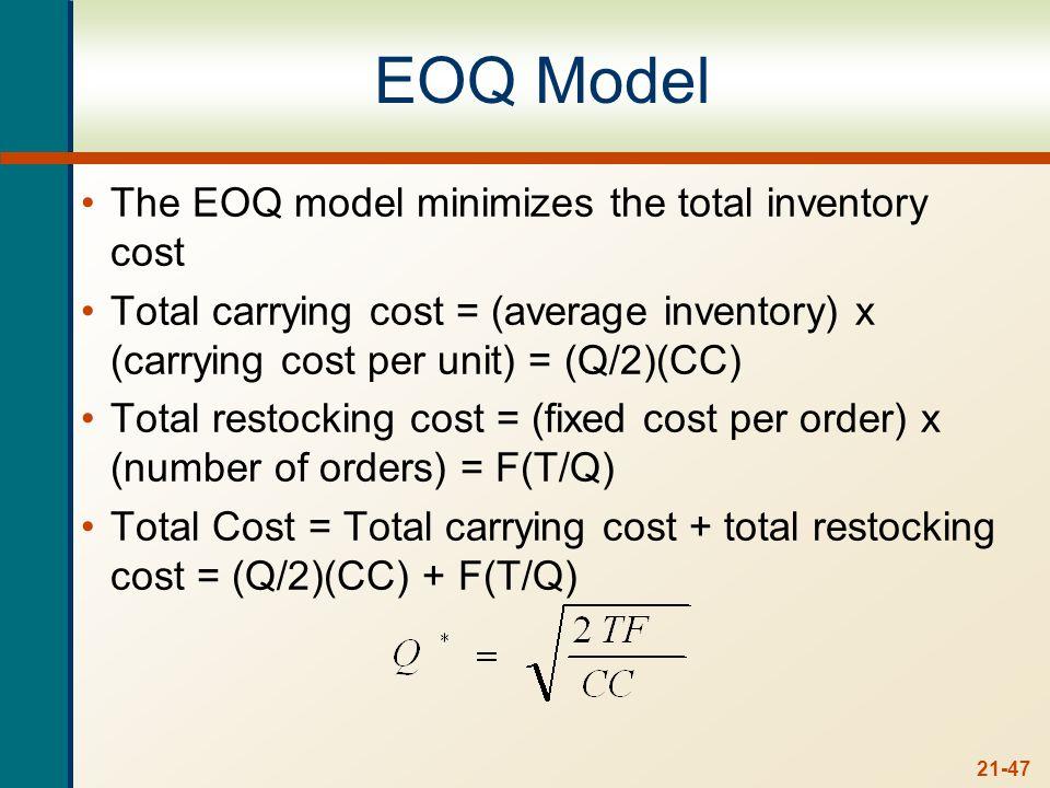 Example: EOQ