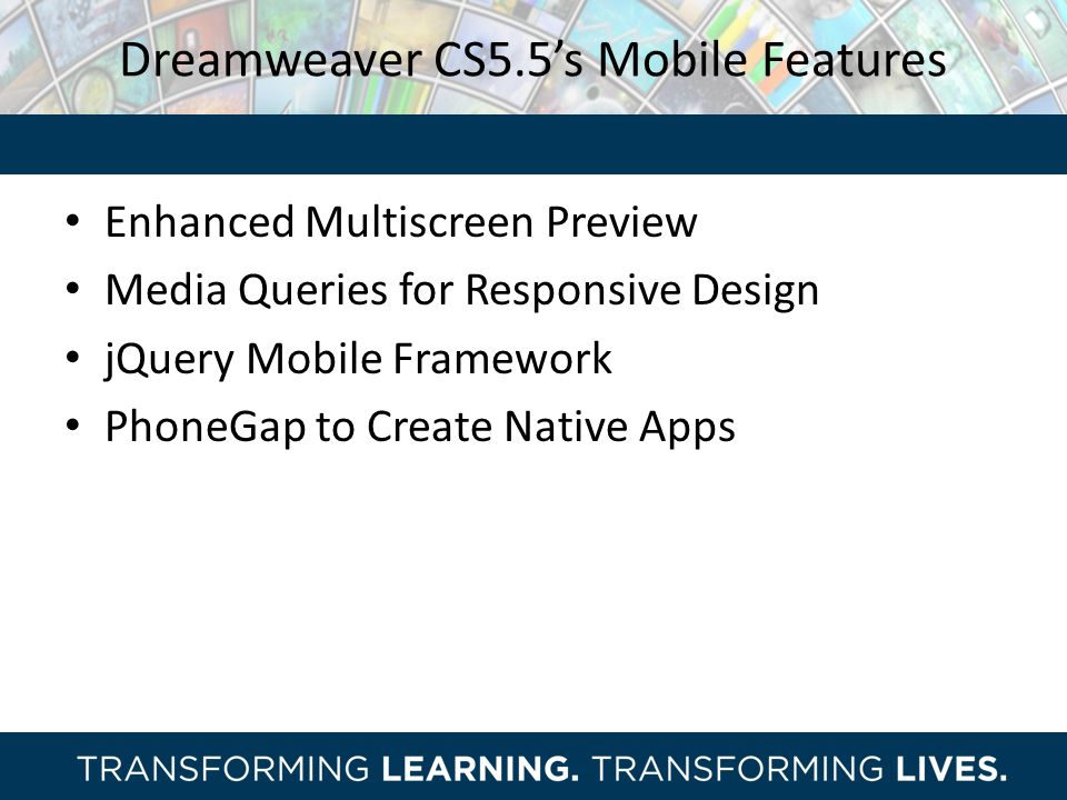 Dreamweaver CS5.5's Mobile Features