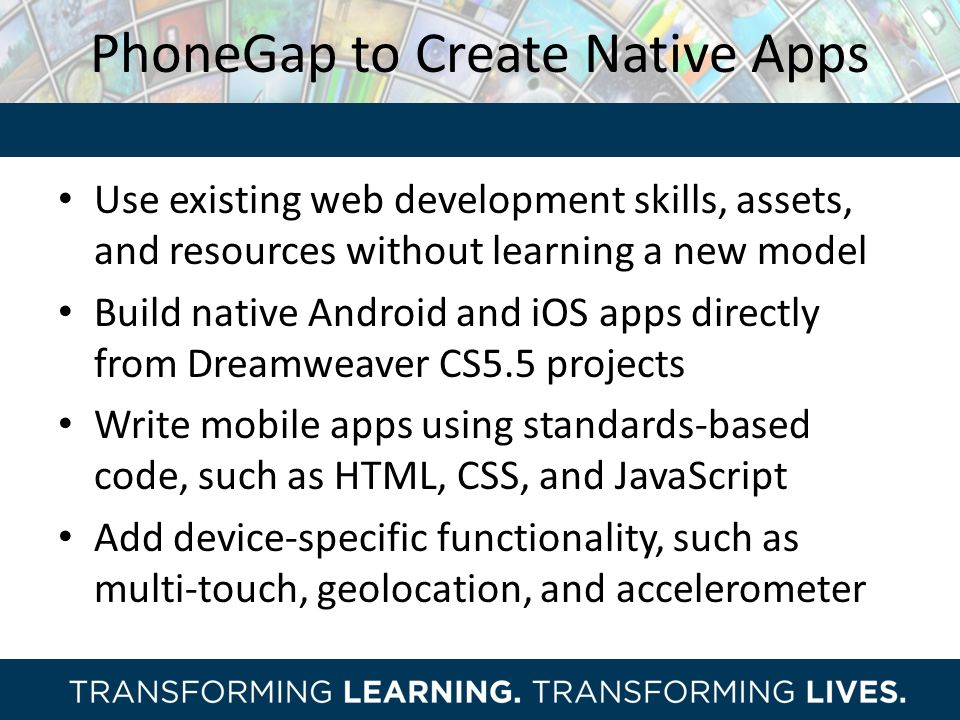 PhoneGap to Create Native Apps