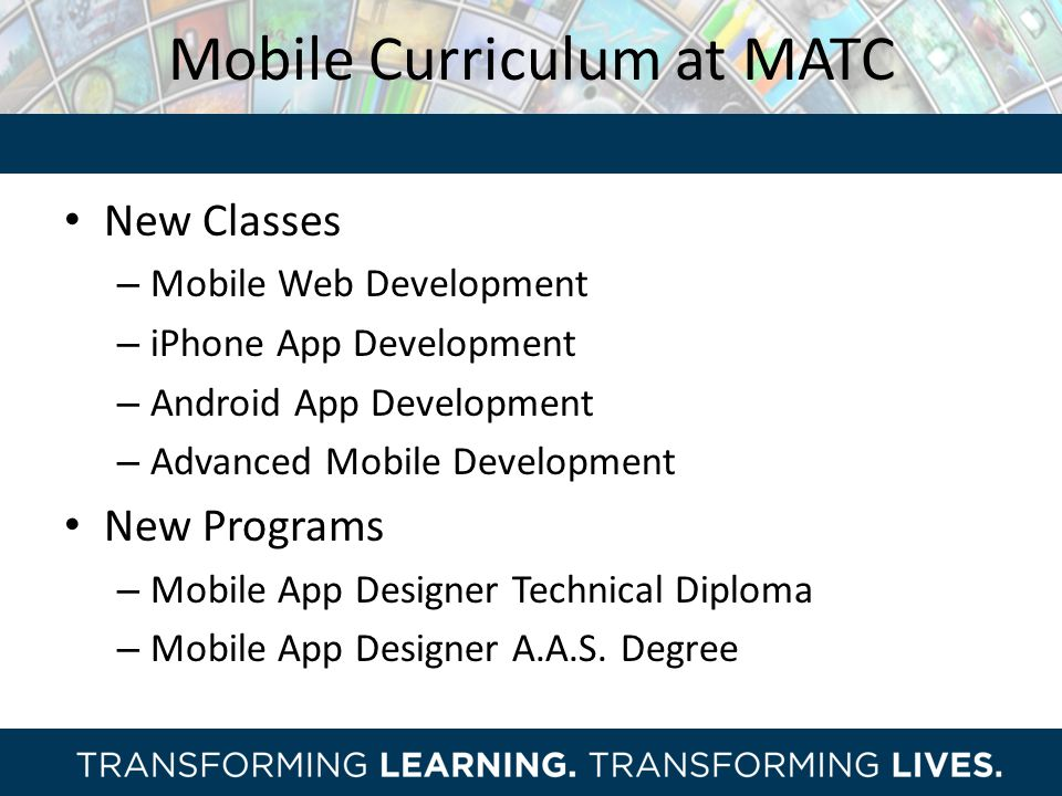Mobile Curriculum at MATC