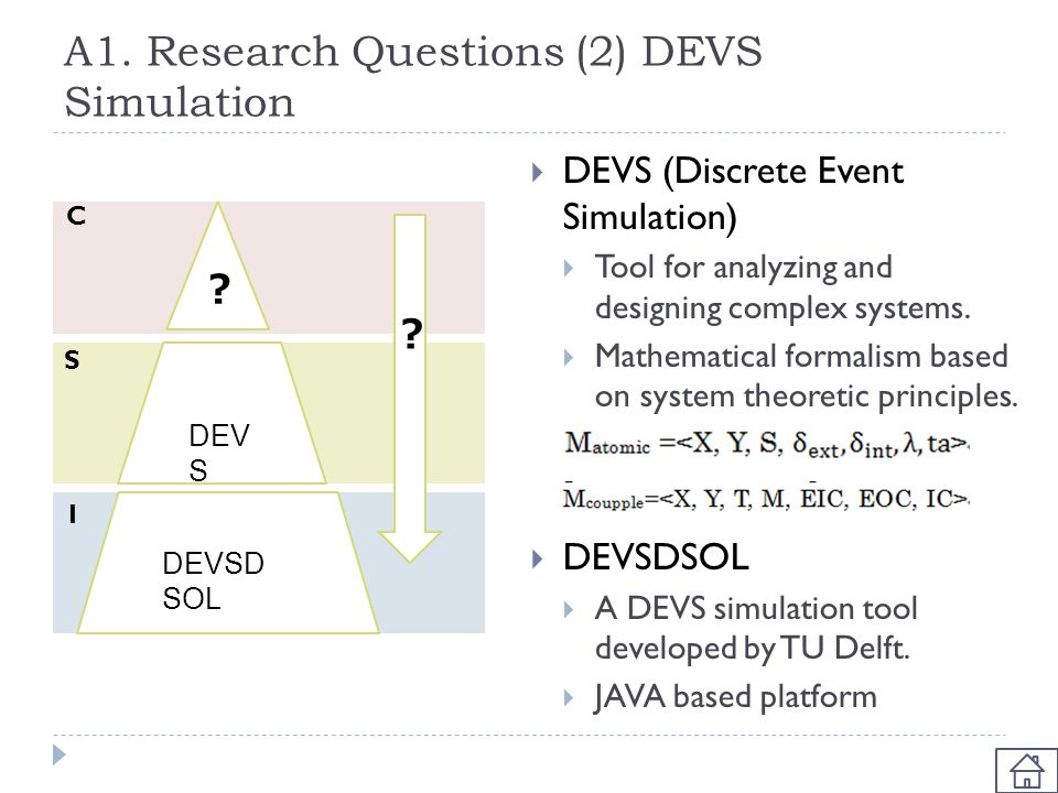 A1. Research Questions (2) DEVS Simulation