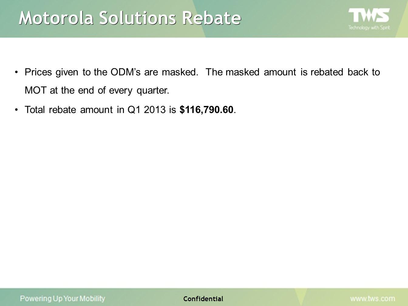 Motorola Solutions Rebate