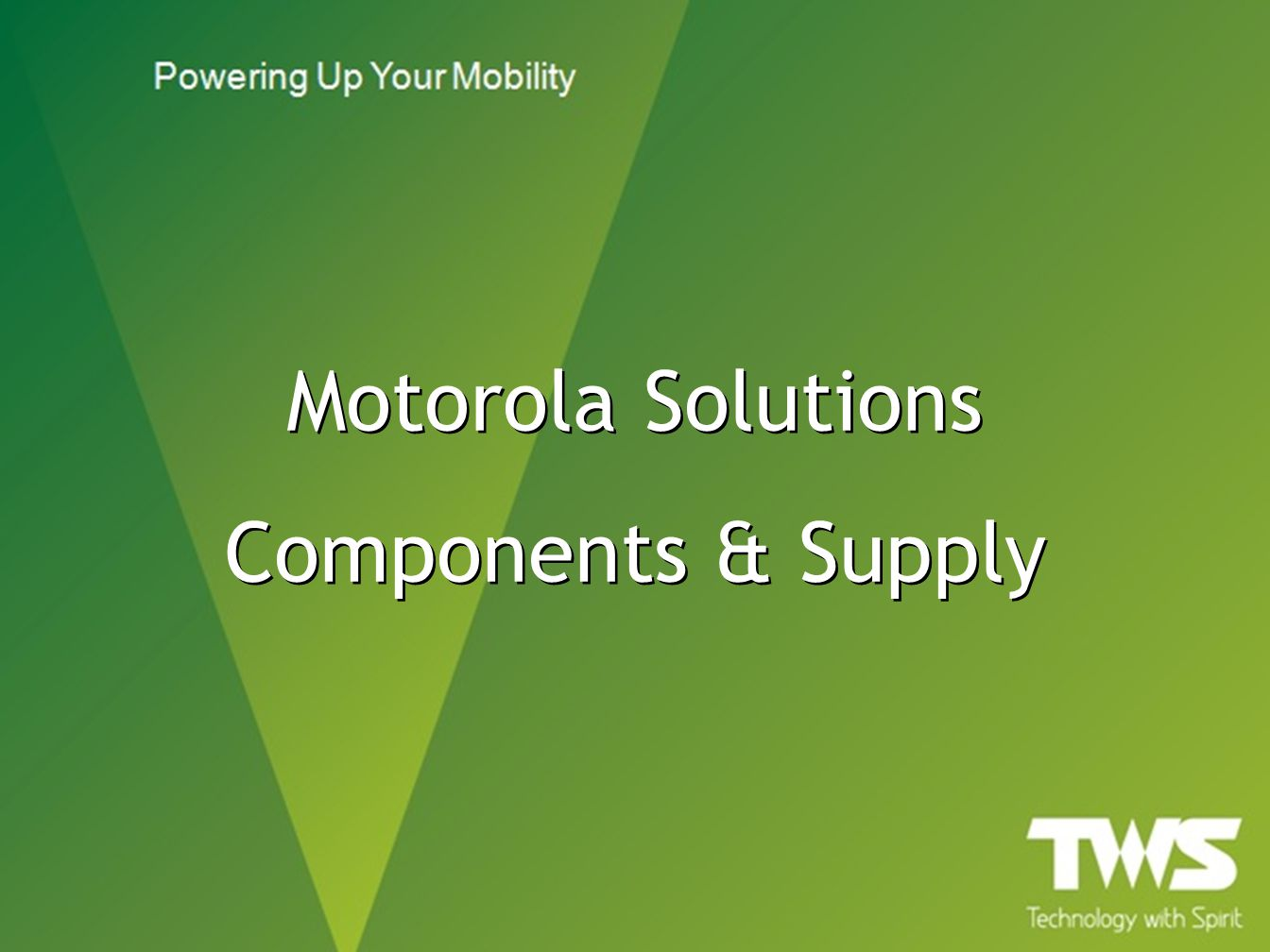 Motorola Solutions Components & Supply