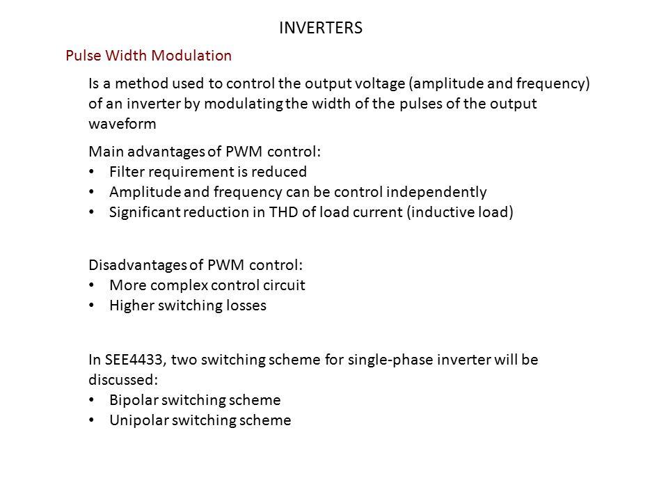 INVERTERS Pulse Width Modulation