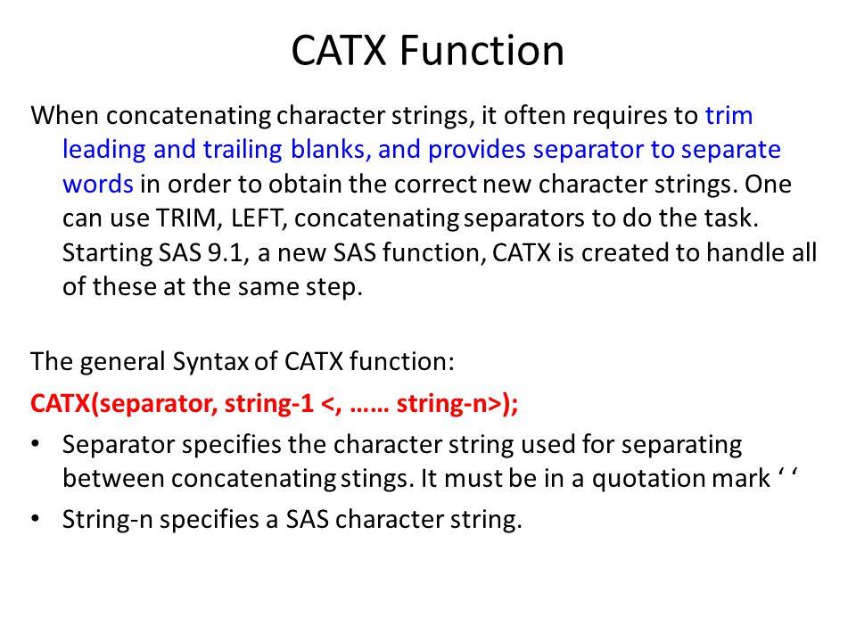 CATX Function