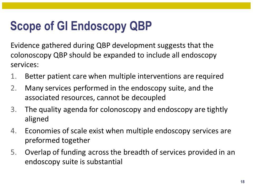 Scope of GI Endoscopy QBP