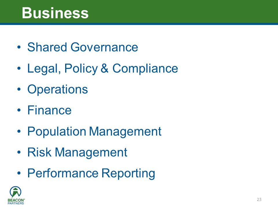 Business Shared Governance Legal, Policy & Compliance Operations