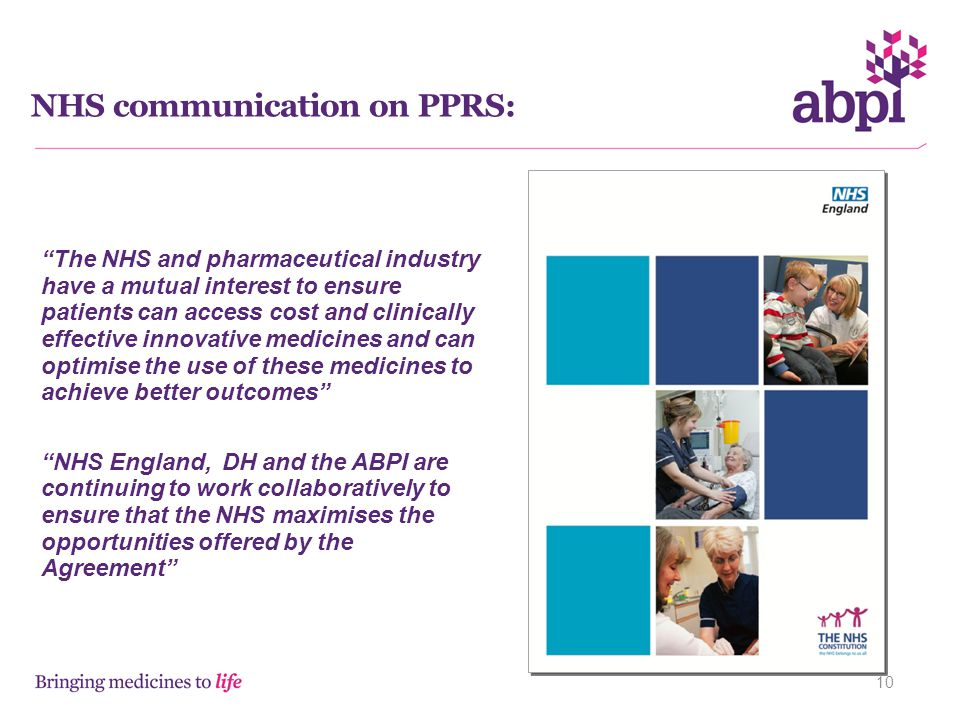 NHS communication on PPRS: