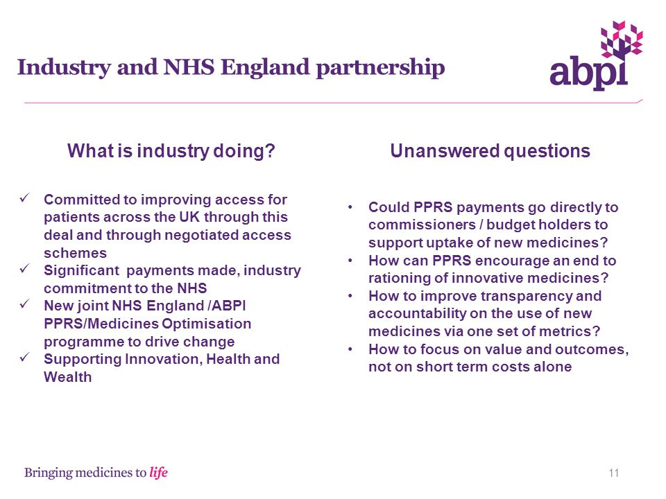 Industry and NHS England partnership
