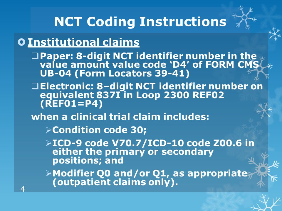 NCT Coding Instructions
