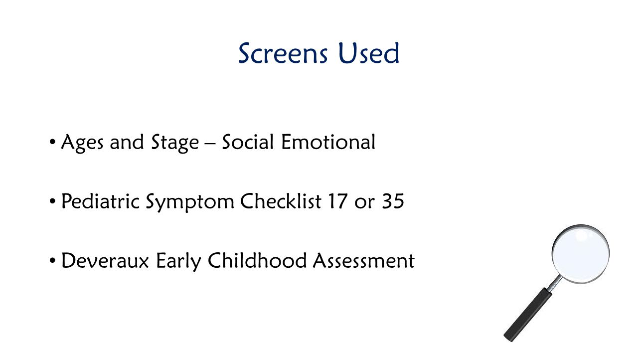 Screens Used Ages and Stage – Social Emotional