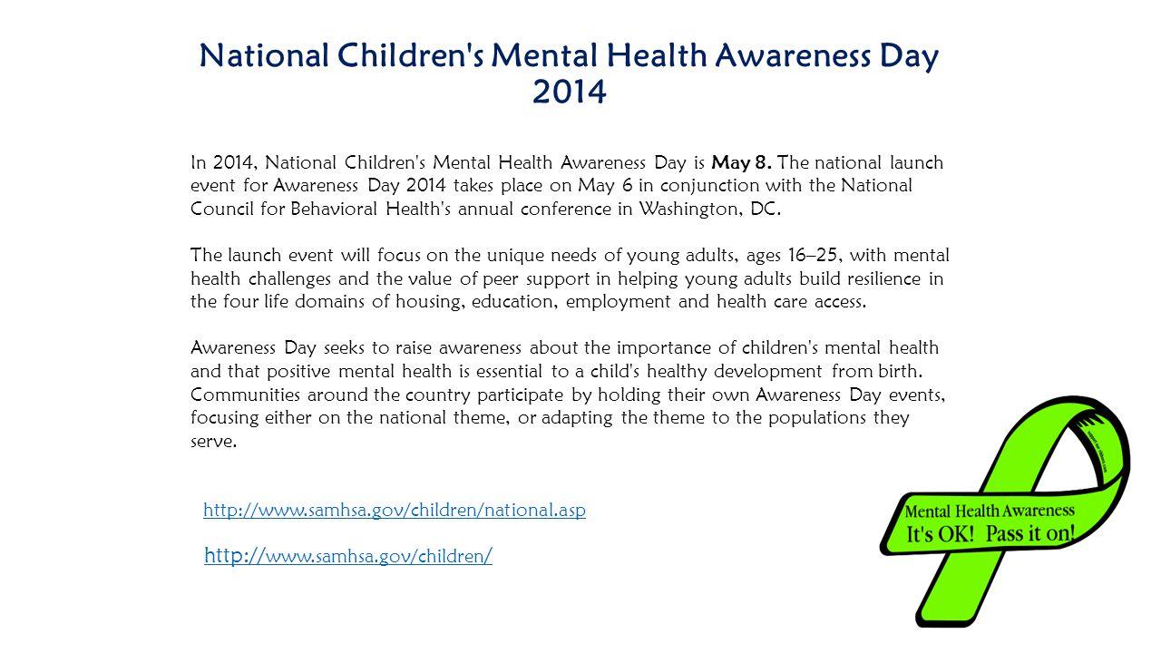 National Children s Mental Health Awareness Day 2014