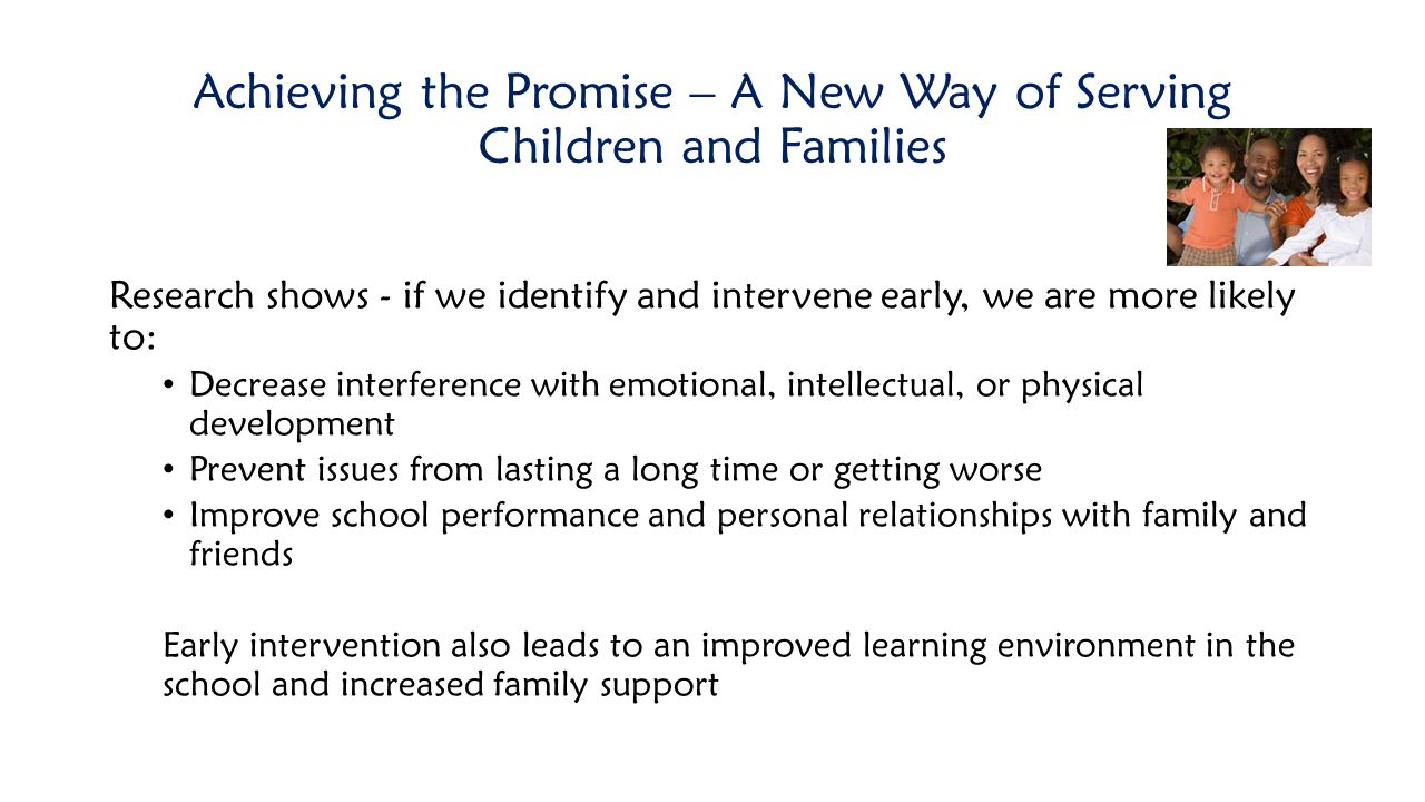 Achieving the Promise – A New Way of Serving Children and Families