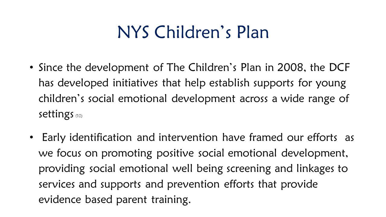 NYS Children's Plan