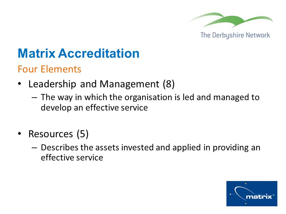 Matrix Accreditation Four Elements Leadership and Management (8)
