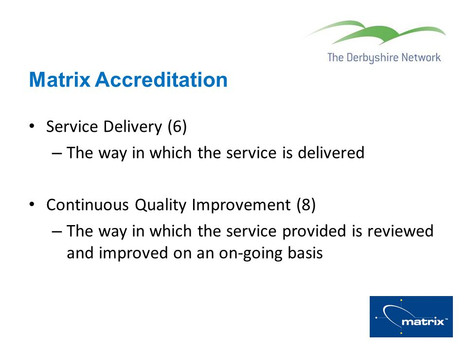 Matrix Accreditation Service Delivery (6)