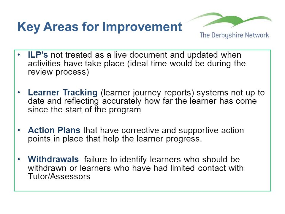 Key Areas for Improvement