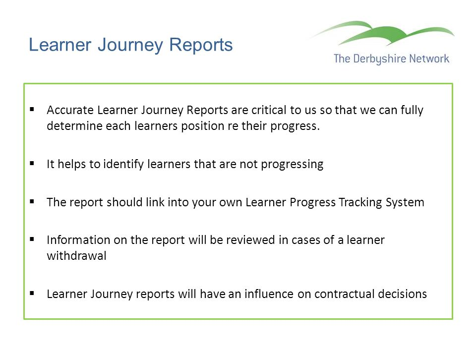 Learner Journey Reports
