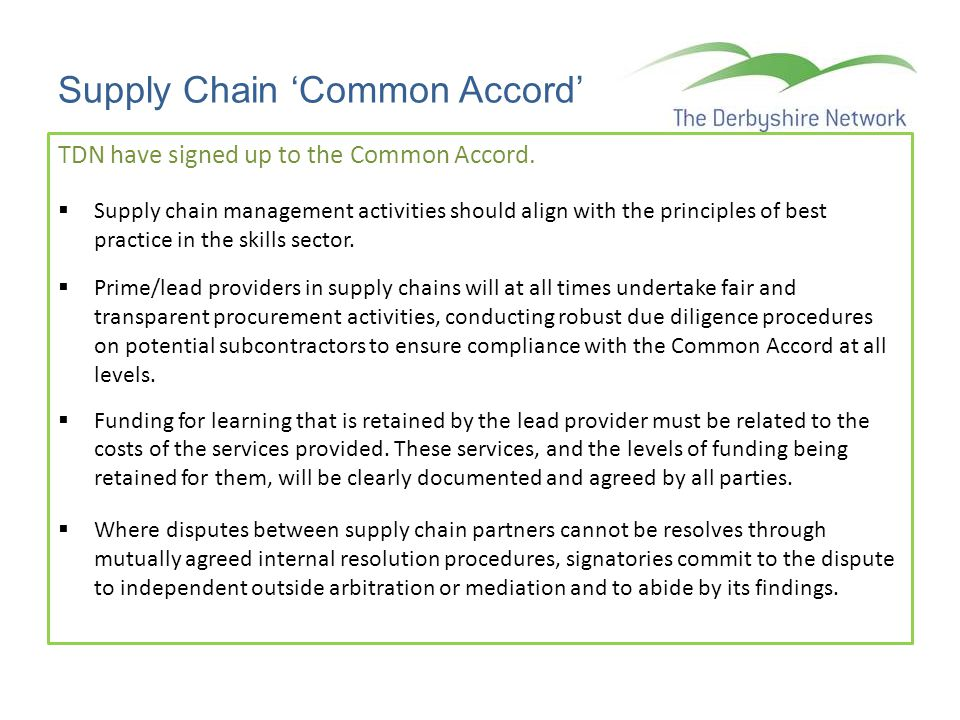 Supply Chain 'Common Accord'