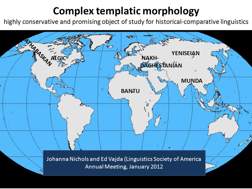 Complex templatic morphology highly conservative and promising object of study for historical-comparative linguistics