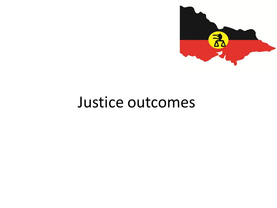 Justice outcomes