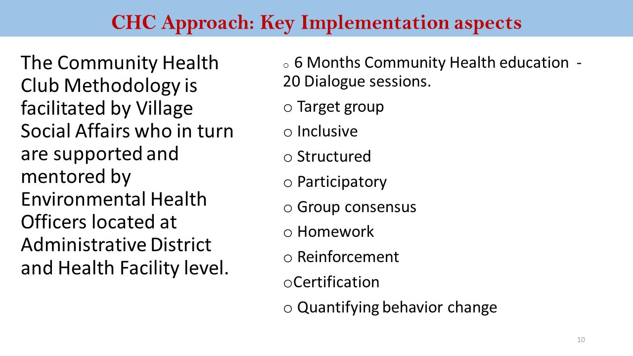 CHC Approach: Key Implementation aspects