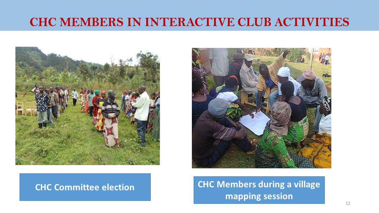 CHC MEMBERS IN INTERACTIVE CLUB ACTIVITIES
