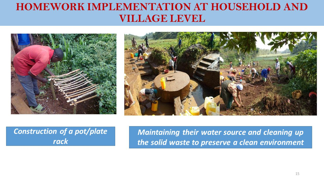 HOMEWORK IMPLEMENTATION AT HOUSEHOLD AND VILLAGE LEVEL