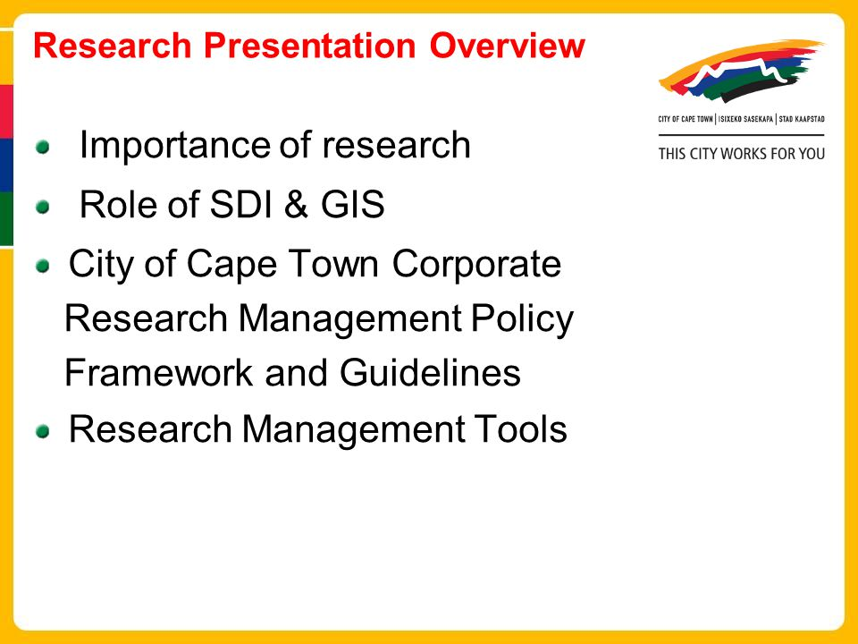 Research Presentation Overview