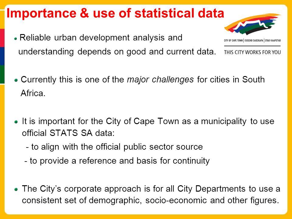 Importance & use of statistical data