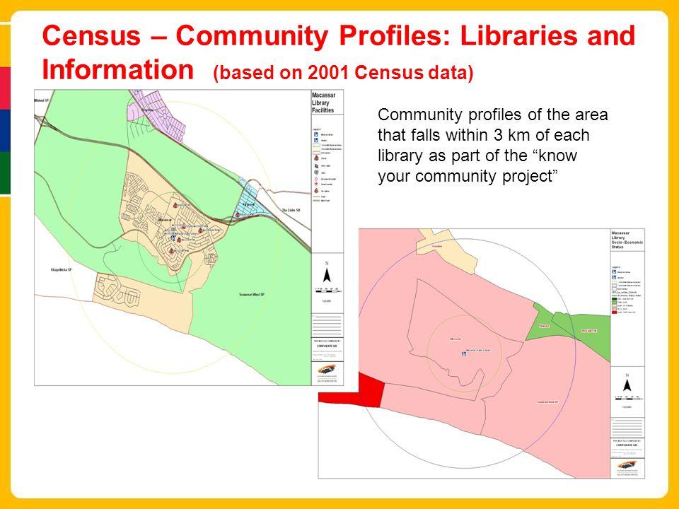 Census – Community Profiles: Libraries and Information (based on 2001 Census data)