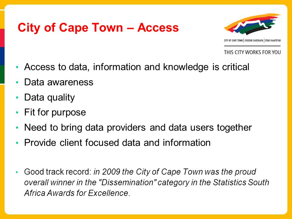 City of Cape Town – Access