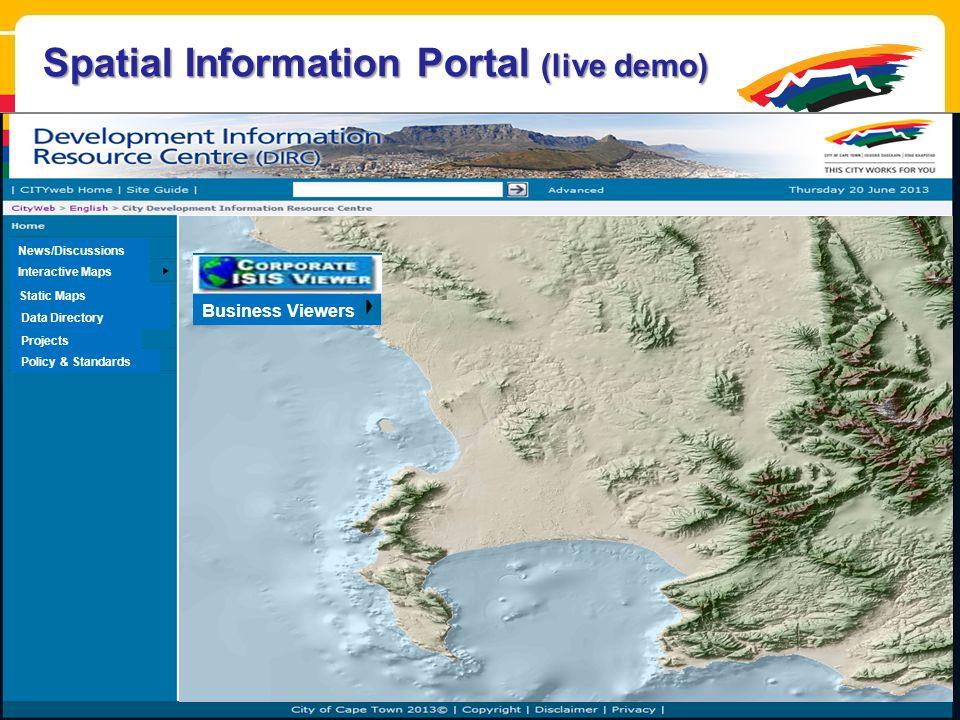 Spatial Information Portal (live demo)