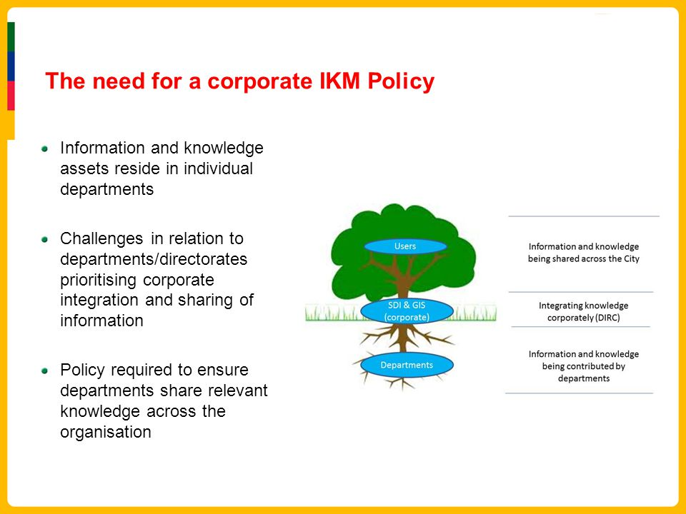 The need for a corporate IKM Policy
