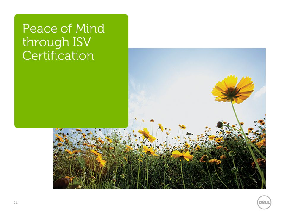 Peace of Mind through ISV Certification