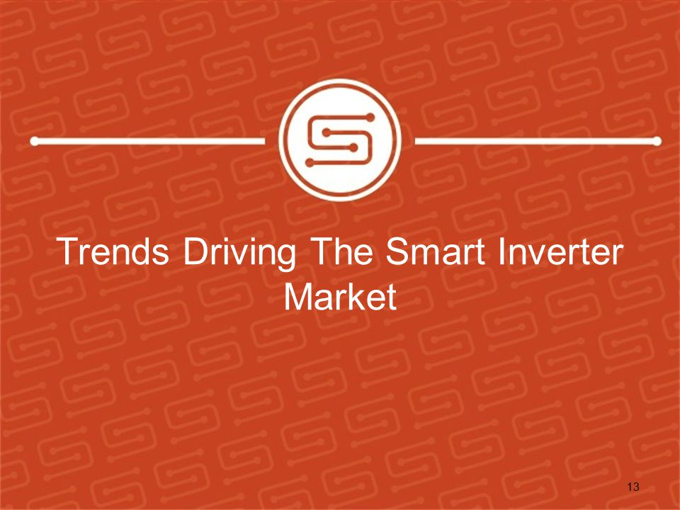 Trends Driving The Smart Inverter Market