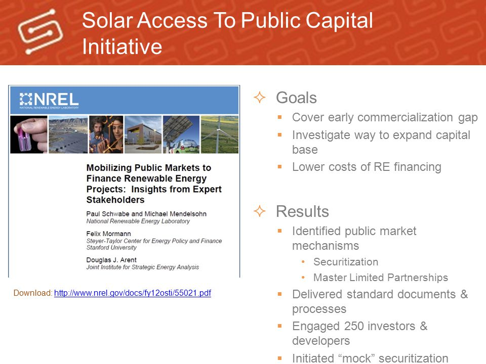 Solar Access To Public Capital Initiative