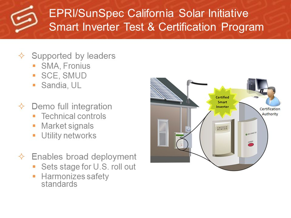 EPRI/SunSpec California Solar Initiative Smart Inverter Test & Certification Program