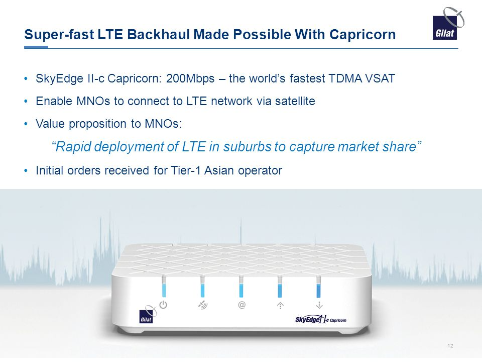 Super-fast LTE Backhaul Made Possible With Capricorn