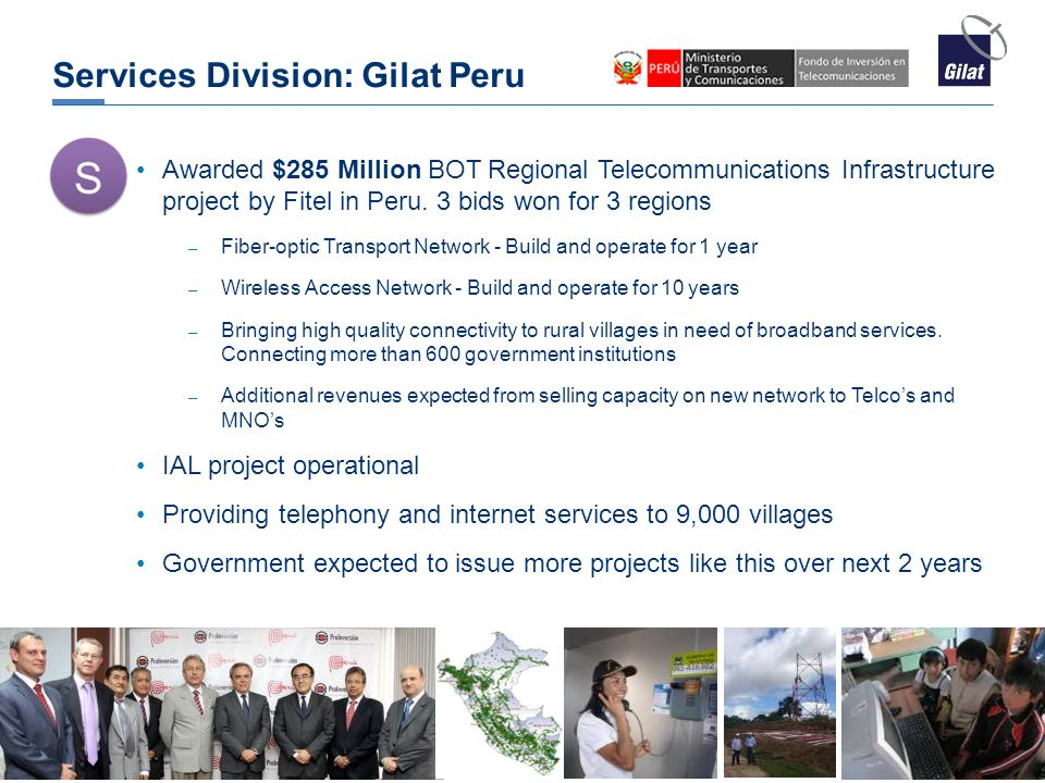 Services Division: Gilat Peru