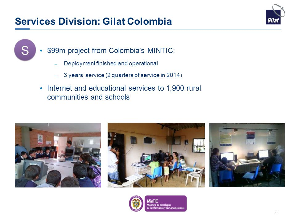 Services Division: Gilat Colombia
