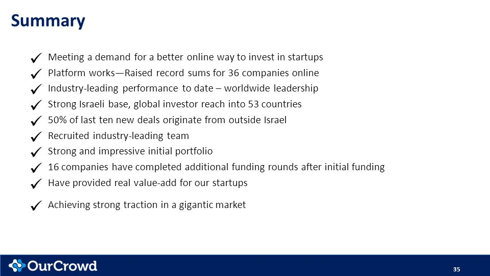 Summary Meeting a demand for a better online way to invest in startups