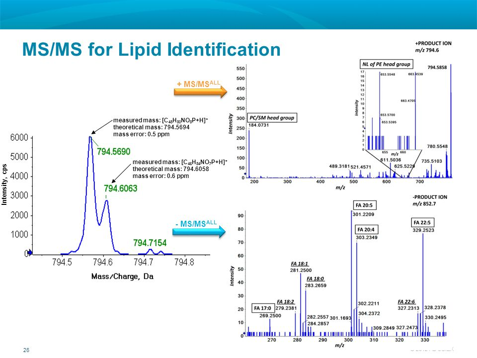 MS/MS for Lipid Identification