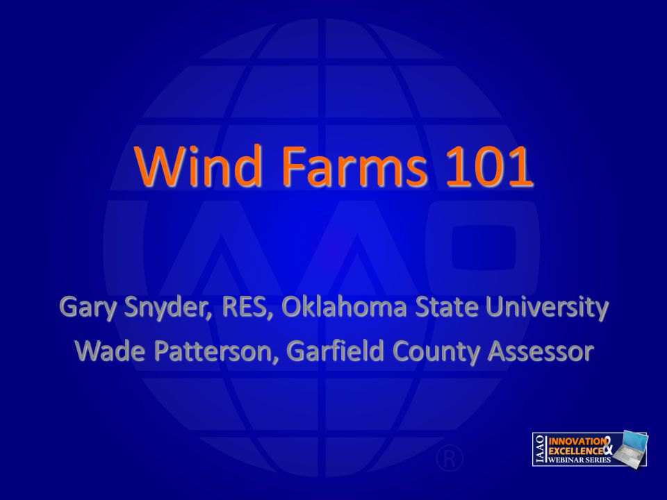 Wind Farms 101 Gary Snyder, RES, Oklahoma State University