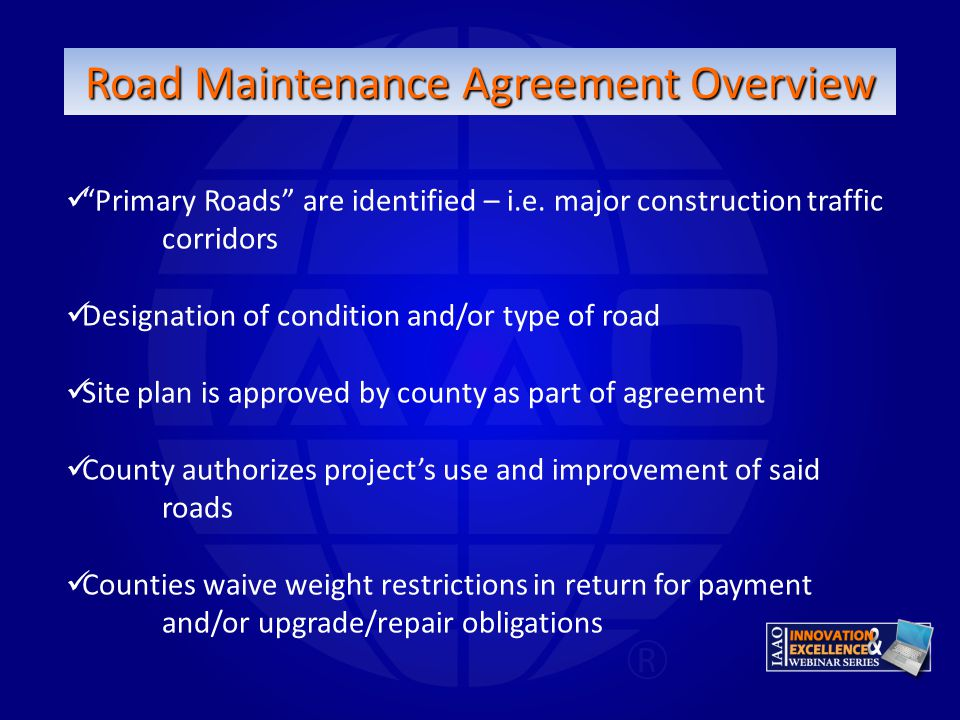 Road Maintenance Agreement Overview