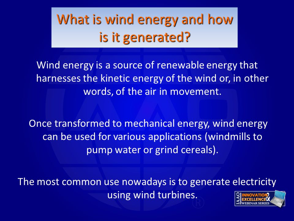 What is wind energy and how is it generated