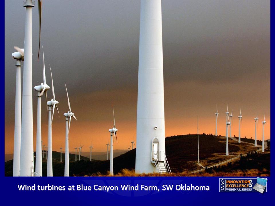 Wind turbines at Blue Canyon Wind Farm, SW Oklahoma