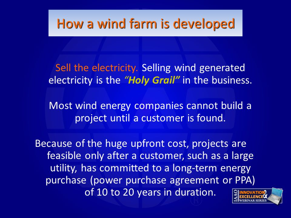 How a wind farm is developed